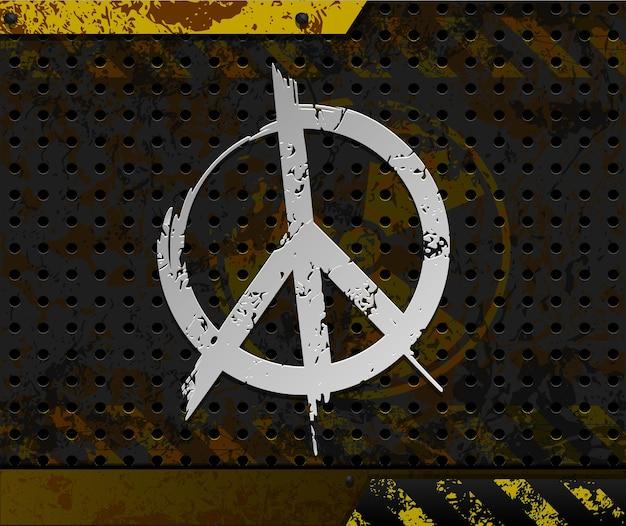 Anti-atom-hintergrund mit friedenssymbol