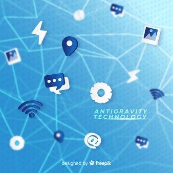 Anti-schwerkraft-technologie mit elementen