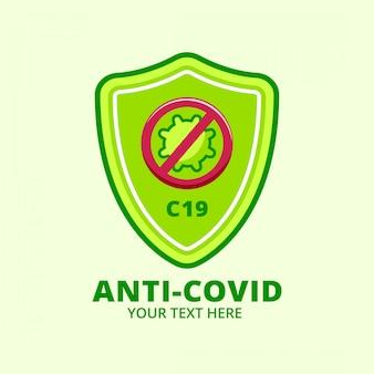 Anti-virus-abzeichen-logo