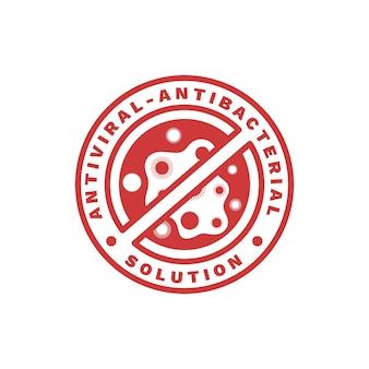 Antibakterielle logo-vorlage