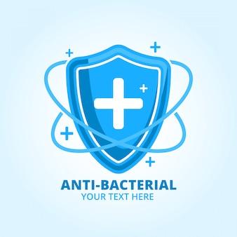 Antibakterielles händedesinfektionsmittel logo markenprodukt
