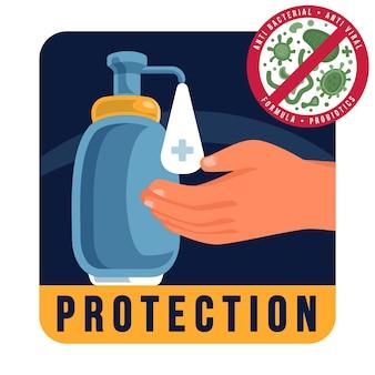 Antibakterielles logo-konzept