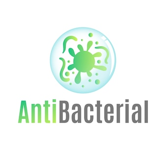 Antibakterielles logo-schablonenthema