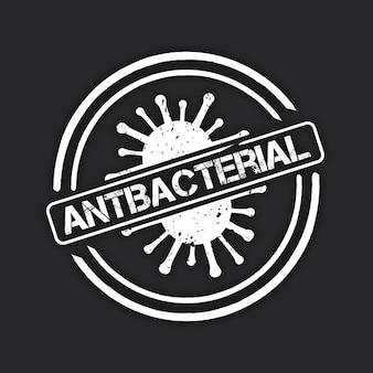 Antibakterielles logo-vorlagenkonzept