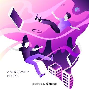 Antigravity menschen hintergrund
