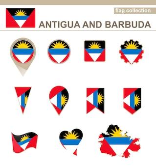 Antigua und barbuda flag collection, 12 versionen