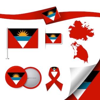 Antigua und barbuda repräsentative elemente sammlung