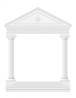 Antike bogenvorrat-vektorillustration