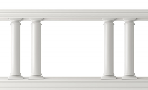 Antike säulen gesetzt, gemusterte säulen balustrade