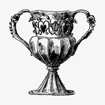 Antiker silberner becher