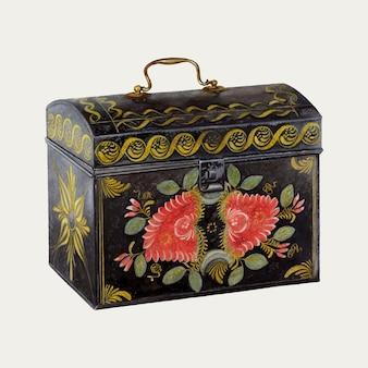 Antikes dekoratives vektor-truhe-designelement, neu gemischt aus kunstwerken von thomas watts