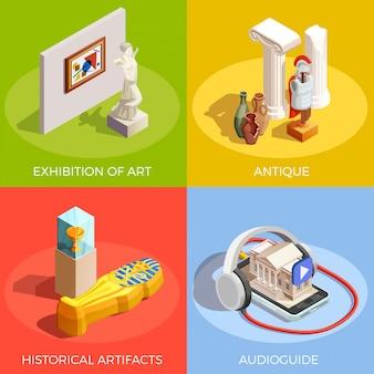 Antikes museums-design-konzept
