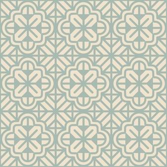 Antikes nahtloses geometrisches blumenmuster