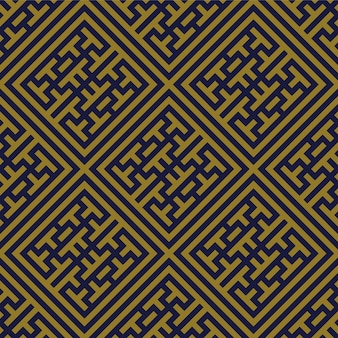 Antikes nahtloses muster check square cross tracery frame