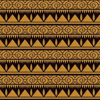 Antikes nahtloses muster der sägezahnspirale der aborigines