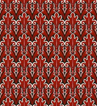 Antikes nahtloses muster des vintage roten naturgartenblattkreuzes