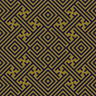 Antikes nahtloses muster geometrie spiral check cross tracery