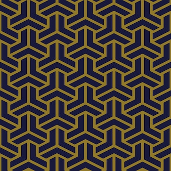Antikes nahtloses muster-polygon-3d-dreieckskreuz