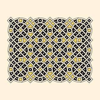 Antikes russisches geflochtenes ornament zum dekorieren von kirchenbüchern