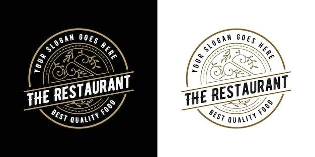 Antikes viktorianisches kalligrafie-emblem-logo des retro-luxus mit dekorativem rahmen, der für antikes restauranthotel des friseurweinhandwerksbierladens spa-schönheitssalonboutique geeignet ist