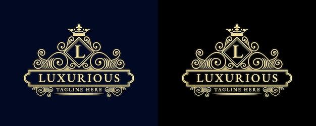 Antikes viktorianisches kalligrafielogo im retro-luxus mit zierrahmen, geeignet für friseur wein carft bierladen spa salon boutique antikes restaurant hotel resort klassische königliche marke