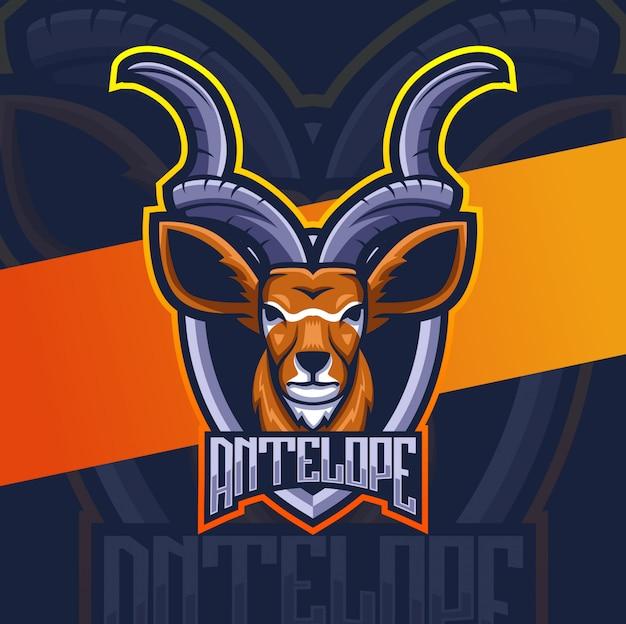 Antilopenhirsch maskottchen logo design