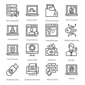 Antivirus icons set