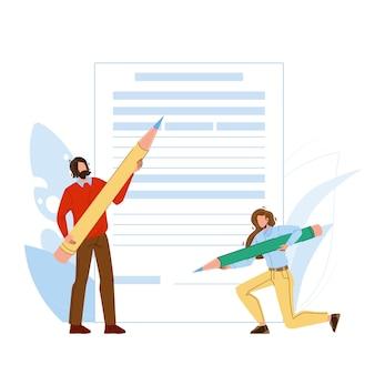 Antragsformular füllen von personen mit bleistift