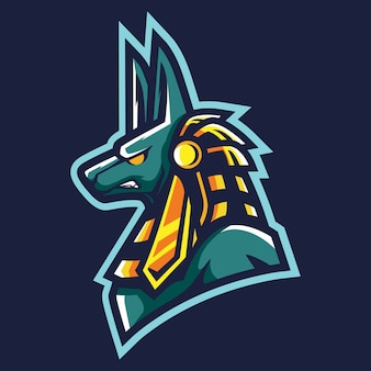 Anubis esport logo illustration