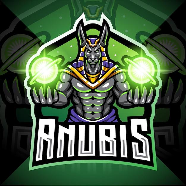 Anubis esport maskottchen logo design