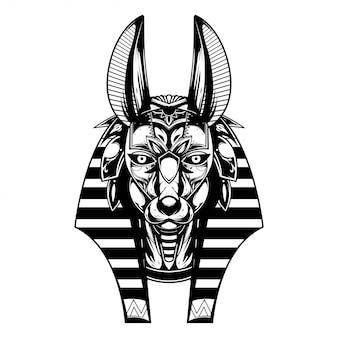 Anubis illustration und t-shirt-design