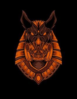 Anubis kopf mit maske