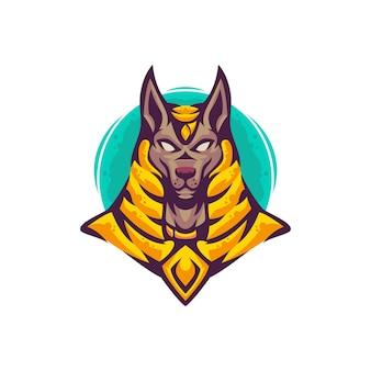 Anubis logo maskottchen