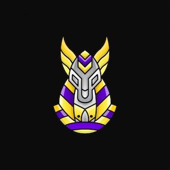 Anubis logo zeichen. maskottchen-logo-verlaufsstil