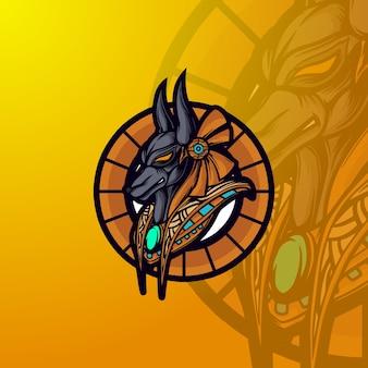 Anubis mascot logo e-sport