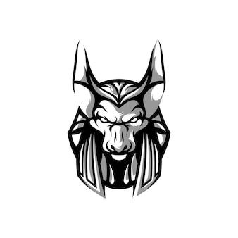 Anubis maskottchen design