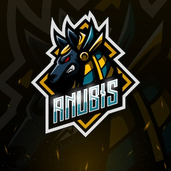 Anubis maskottchen esport illustration