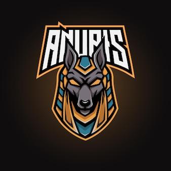 Anubis maskottchen esport-logo