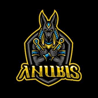Anubis maskottchen logo esport