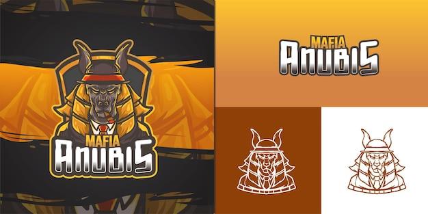 Anubis maskottchen logo für e-sport illustration