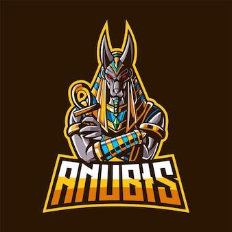 Anubis maskottchen logo für esport und sport
