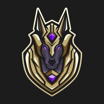 Anubis maskottchen logo log