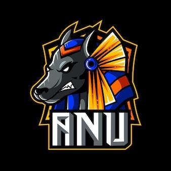 Anubis maskottchen logo