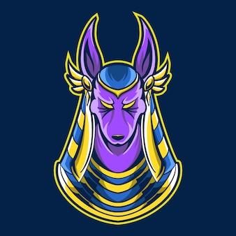 Anubis maskottchenillustration