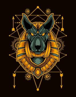 Anubis mit heiliger geometrie