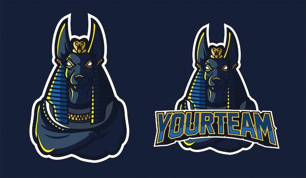 Anubis sport gaming maskottchen logo vorlage