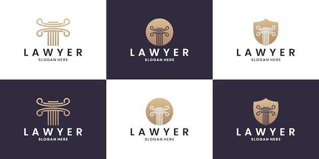 Anwaltskanzlei, anwaltskanzlei, anwaltsdienste, vektorlogovorlage