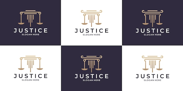 Anwaltskanzlei, justiz, anwalt ihre logo-design-kollektionen