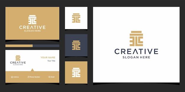 Anwaltskanzlei-logo-design mit visitenkartenvorlage
