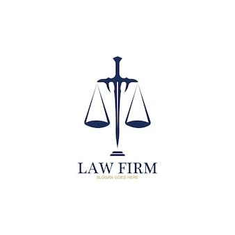 Anwaltskanzlei-logo und icon-design-vorlage-vektor